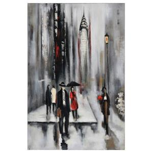 "Bustling City II - 23.5"" Decorative Canvas"
