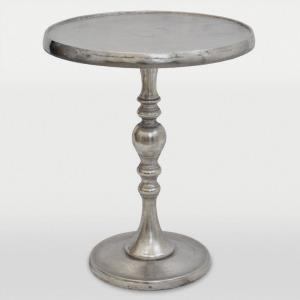 "Romina Chrome - 17"" Small Accent Table"