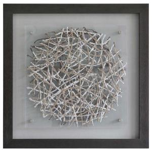 Webbed - 33.5 Inch Decorative Framed Wall Art