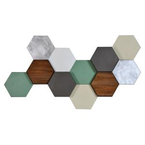 Hexa Pastel - 50 Inch Medium Decorative Wall Art