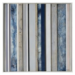 "Slatted Sky - 40"" Large Square Wall Decor"
