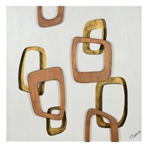 """Maylie - 40"""" Large Square Wall Decor"""