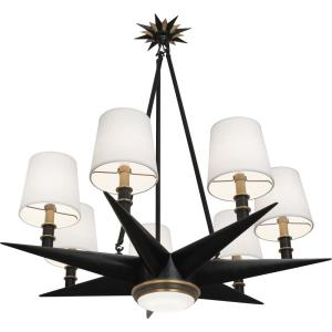 Cosmos - Seven Light Chandelier with LED Downlight