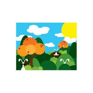 14 Inch Bunny Fields Orange Wall Art