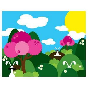 24 Inch Bunny Fields Pink Wall Art