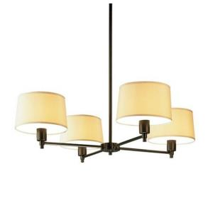 Real Simple-4 Light Chandelier-35 Inches Wide by 8.5 Inches High