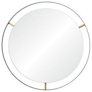Framed - 20 Inch Round Wall Mirror