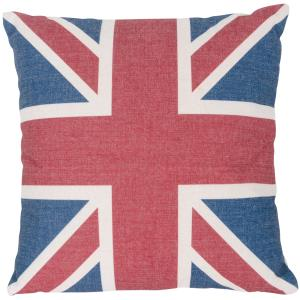 UK Flag - Square Throw Pillow (Case Only)