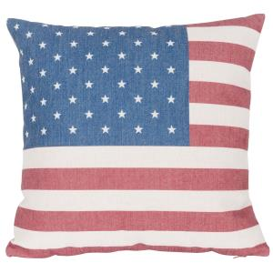USA Flag - Square Throw Pillow (Case Only)