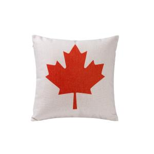 Canadian Flag - Square Throw Pillow (Case Only)