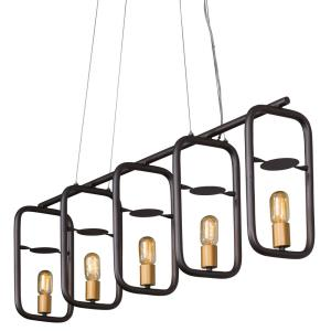 Loophole - Five Light Linear Pendant