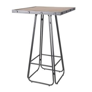 Nell - Industrial Wood and Metal Pub Table