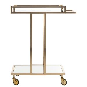 Capri - 32.9 Inch 2 Tier Rectangle Bar Cart