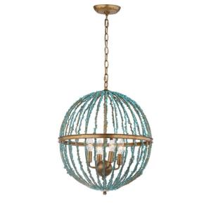 "Lalita - 26"" 16W 4 LED Cage Chandelier"