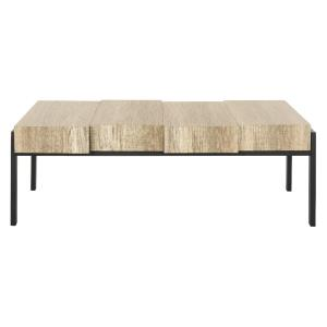 Alexander - 43.3 Inch Rectangular Contemporary Rustic Coffee Table
