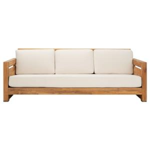 Guadeloupe - 83.5 Inch Outdoor Teak 3-Seat Sofa