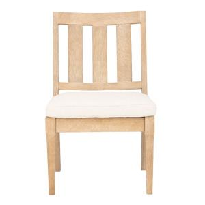 Dominica - 38.8 Inch Wooden Outdoor Dining Chair (Set of 2)