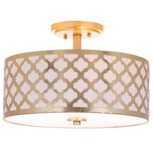 Kora Quatrefoil - Three Light Flush Mount