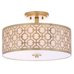 Vera Chain-Link - Three Light Flush Mount