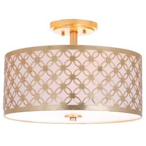 Hutch - Three Light Flush Mount