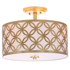 Cecily Leaf Trellis - Three Light Flush Mount