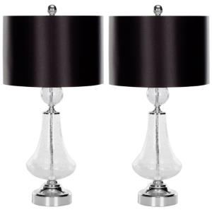 Clear - Two Light Table Lamp (Set of 2)