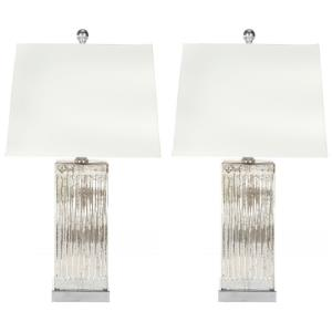 Rock - Two Light Crystal Table Lamp (Set of 2)