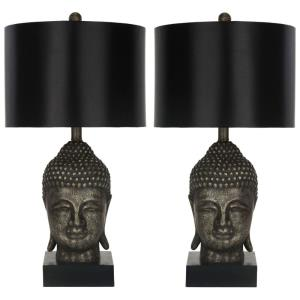 Golden Buddha - Two Light Table Lamp (Set of 2)