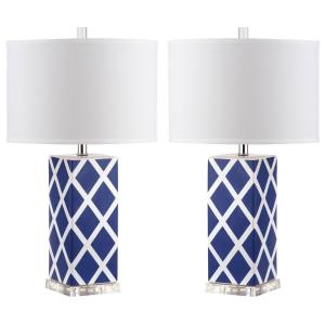Garden - Two Light Lattice Table Lamp (Set of 2)