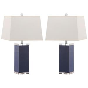 Deco - Two Light Leather Table Lamp (Set of 2)
