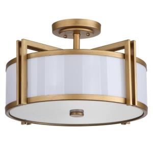Dark Grey - Three Light Semi-Flush Mount