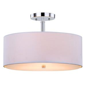 Clara - Three Light Drum Semi-Flush Mount