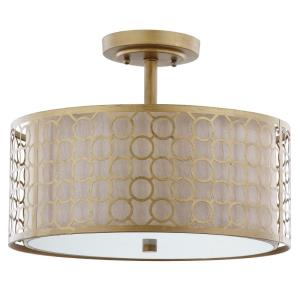 Giotta Circle Trellis - Three Light Semi-Flush Mount