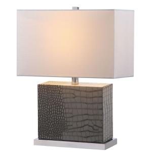 Delia - One Light Faux Alligator Table Lamp