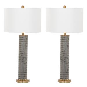 Ollie - Two Light Faux Alligator Table Lamp (Set of 2)