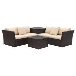 Welch - 57.5 Inch Outdoor Living Sectional Set With Storage
