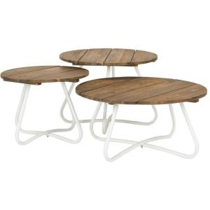Henderson - 27.56 Inch 3 Piece Wood Top Coffee Table