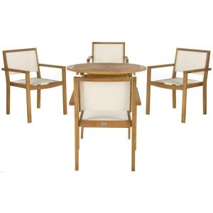 Chante - 35.4 Inch Round Table 5 Piece Dining Set