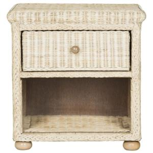 Adira - 22.1 Inch Wicker Nightstand with Drawer and Storage