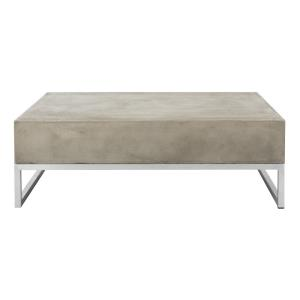 Eartha - 34.25 Inch Indoor/Outdoor Modern Concrete Coffee Table