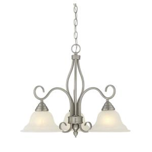 3 Light Chandelier-Transitional Style with Traditional and Contemporary Inspirations-19.5 inches tall by 23 inches wide