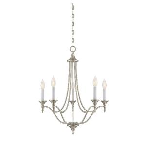 5 Light Chandelier-Contemporary Style with Transitional and Traditional Inspirations-27.5 inches tall by 21 inches wide