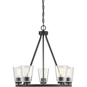 5 Light Chandelier - 23 inches tall by 25 inches wide