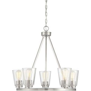 5 Light Chandelier-23 inches tall by 25 inches wide