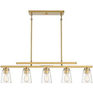 5 Light Linear Chandelier-10 inches tall by 5 inches wide