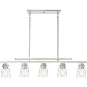 5 Light Linear Chandelier - 10 inches tall by 5 inches wide