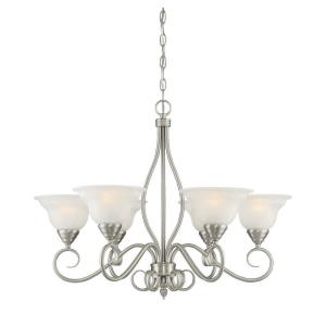 6 Light Chandelier-Transitional Style with Traditional and Contemporary Inspirations-23.25 inches tall by 32.75 inches wide