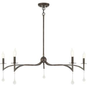 5 Light Chandelier-12 inches tall by 43 inches wide