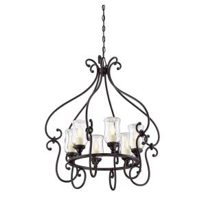Weston - Six Light Outdoor Chandelier