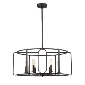 6 Light Chandelier-Industrial Style with Contemporary and Modern Inspirations-18.25 inches tall by 28 inches wide